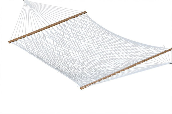 POLYESTER ROPE HAMMOCK - DOUBLE - WHITE - Swings N' Hammocks - 1