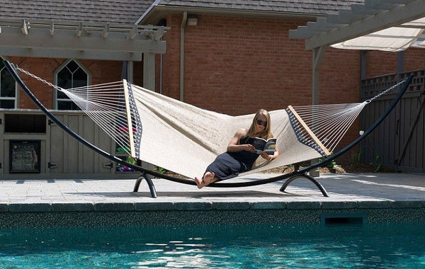 POOLSIDE HAMMOCK - DOUBLE (Taupe) - Swings N' Hammocks - 2