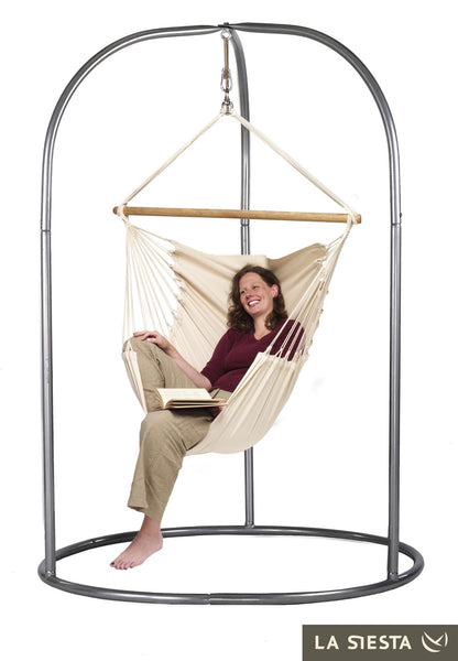 ROMANO Stand for Lounger Hammock Chairs silver - Swings N' Hammocks - 3