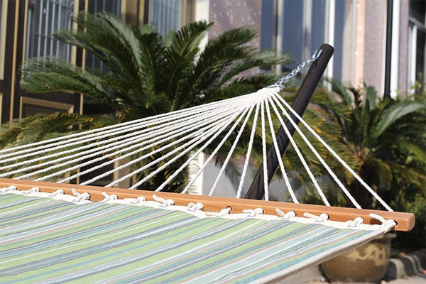 SUNBRELLA QUILTED HAMMOCK - DOUBLE (Foster Surfside) - Swings N' Hammocks - 3