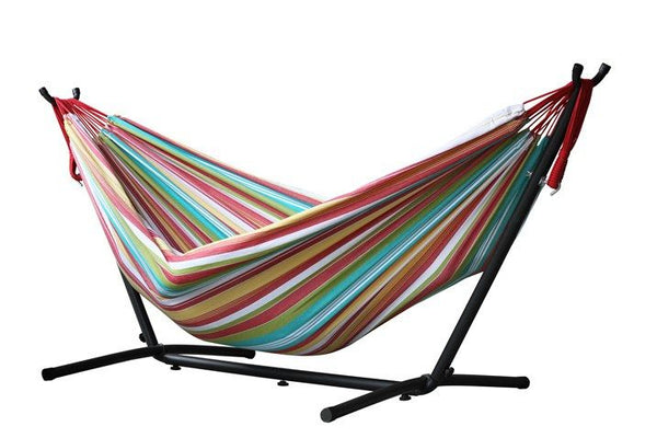 Vivere's Combo - Double Salsa Hammock with Stand (9ft) - Swings N' Hammocks - 1