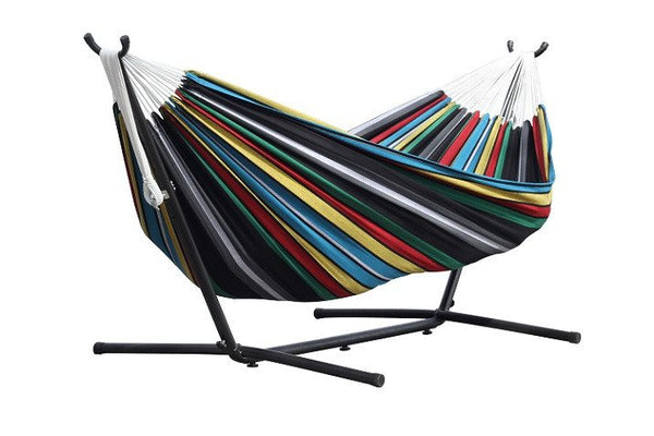 Vivere's Combo - Double Rio Night Hammock with Stand (9ft) - Swings N' Hammocks - 1