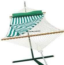 Cotton Rope Hammock and Stand Combination - Swings N' Hammocks - 2