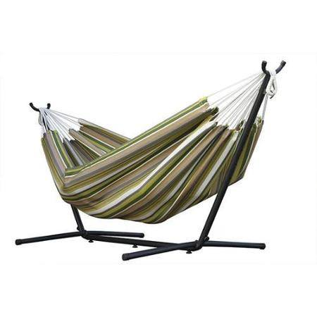 Vivere's Combo - Sunbrella Limelight Hammock with Stand (9ft) - Swings N' Hammocks