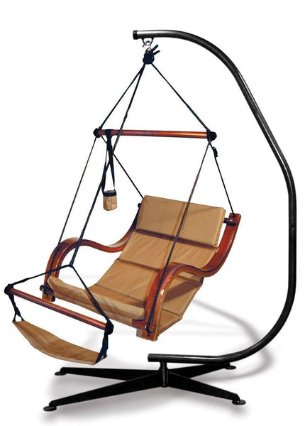 Hammaka Suelo Stand and Natural Tan Nami Chair Combo - Swings N' Hammocks