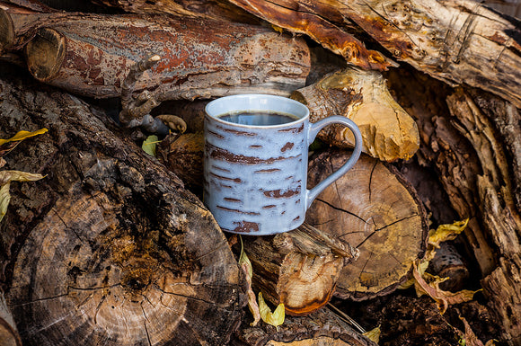 Large Grey Birch Mug