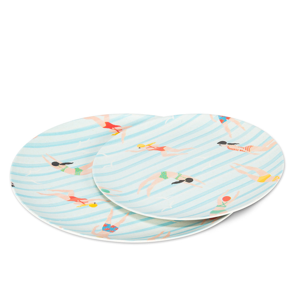 Swimmer Plate s/4 Large