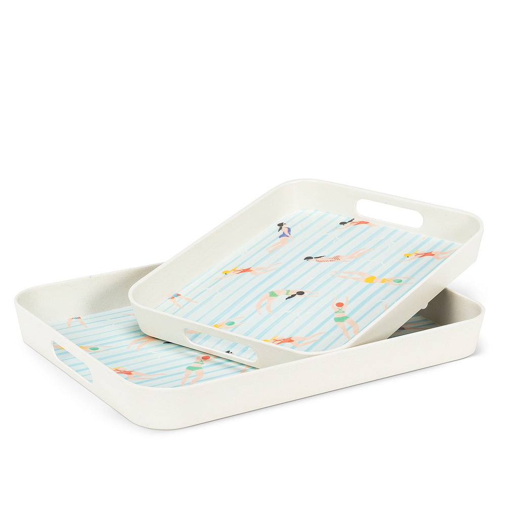 Swimmer Rectangular Trays