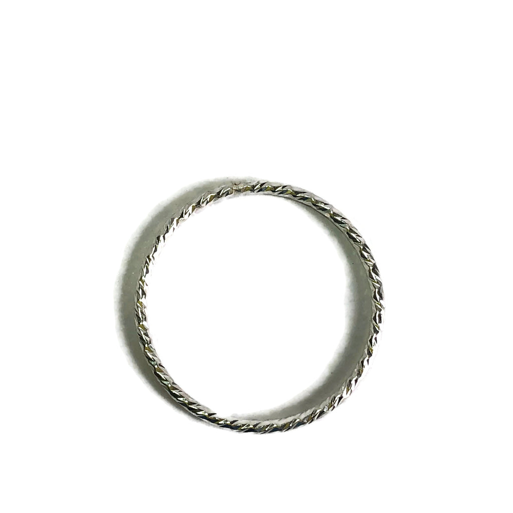 Sparkly Stacker Ring -Sterling Silver