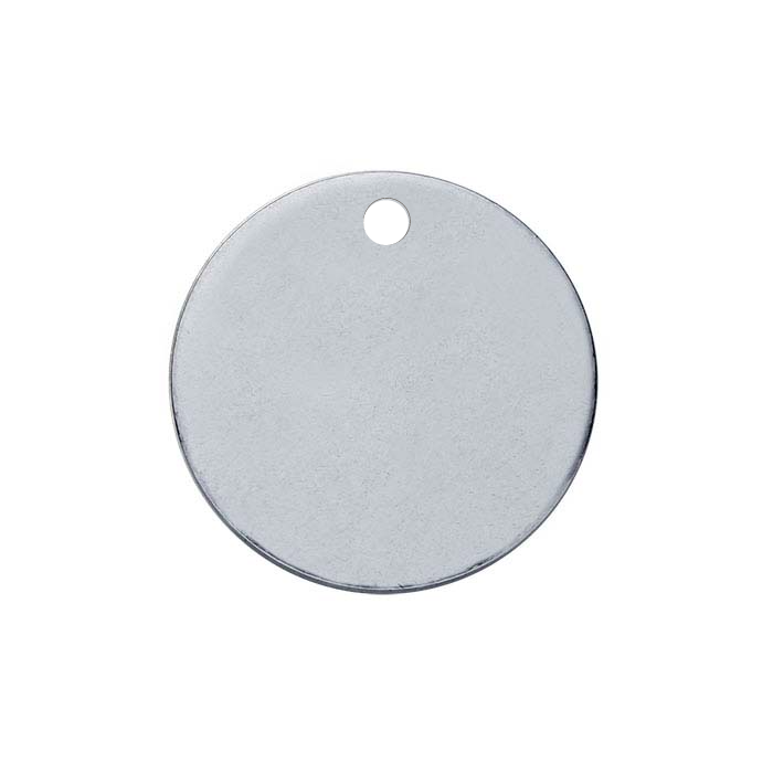 Sterling silver round disk