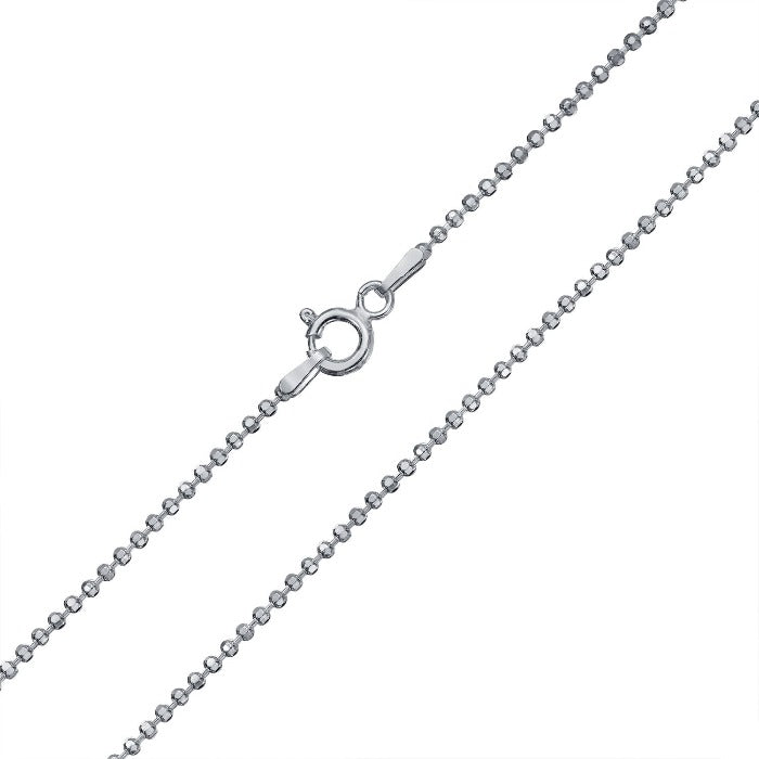 Sterling silver ball chain with spring clasp