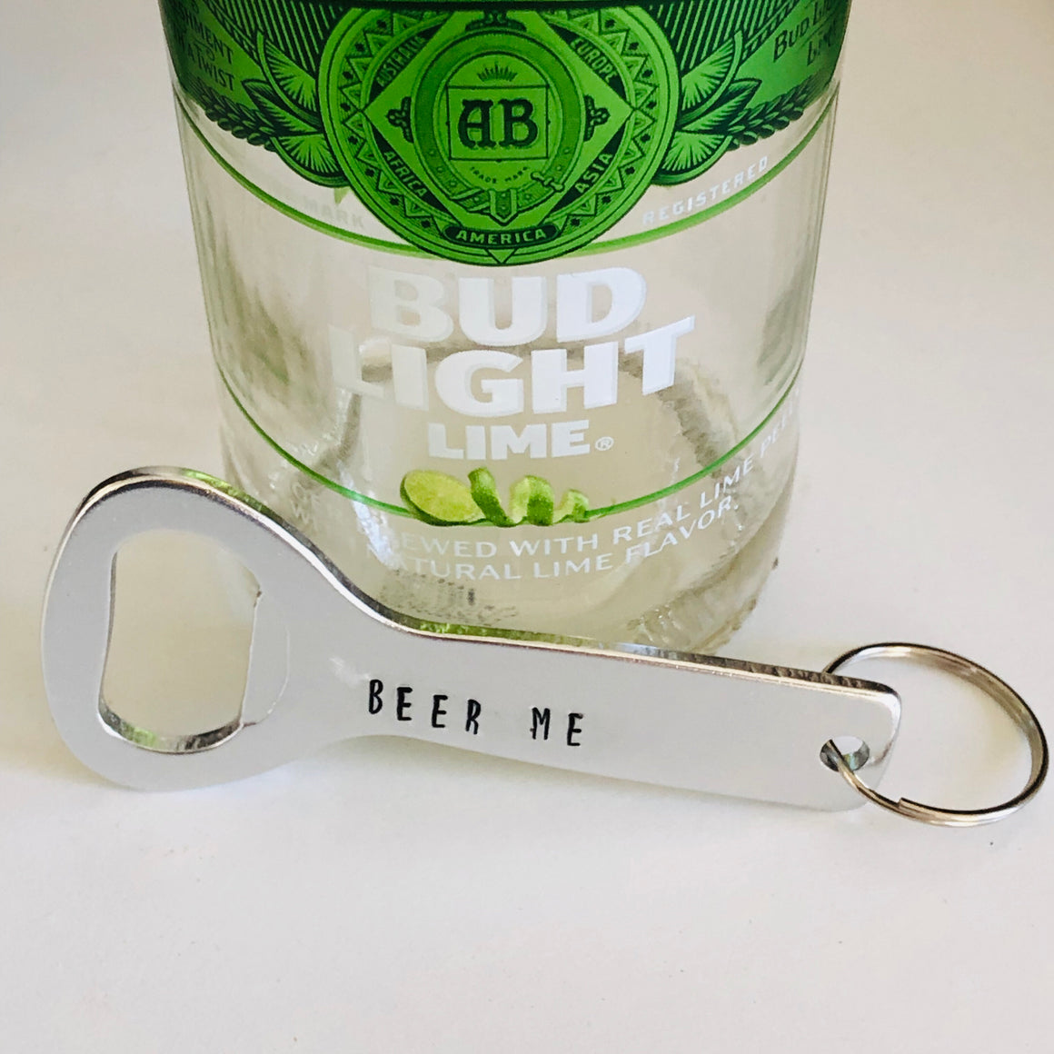 Beer Bottle Openers Handstamped Keychains