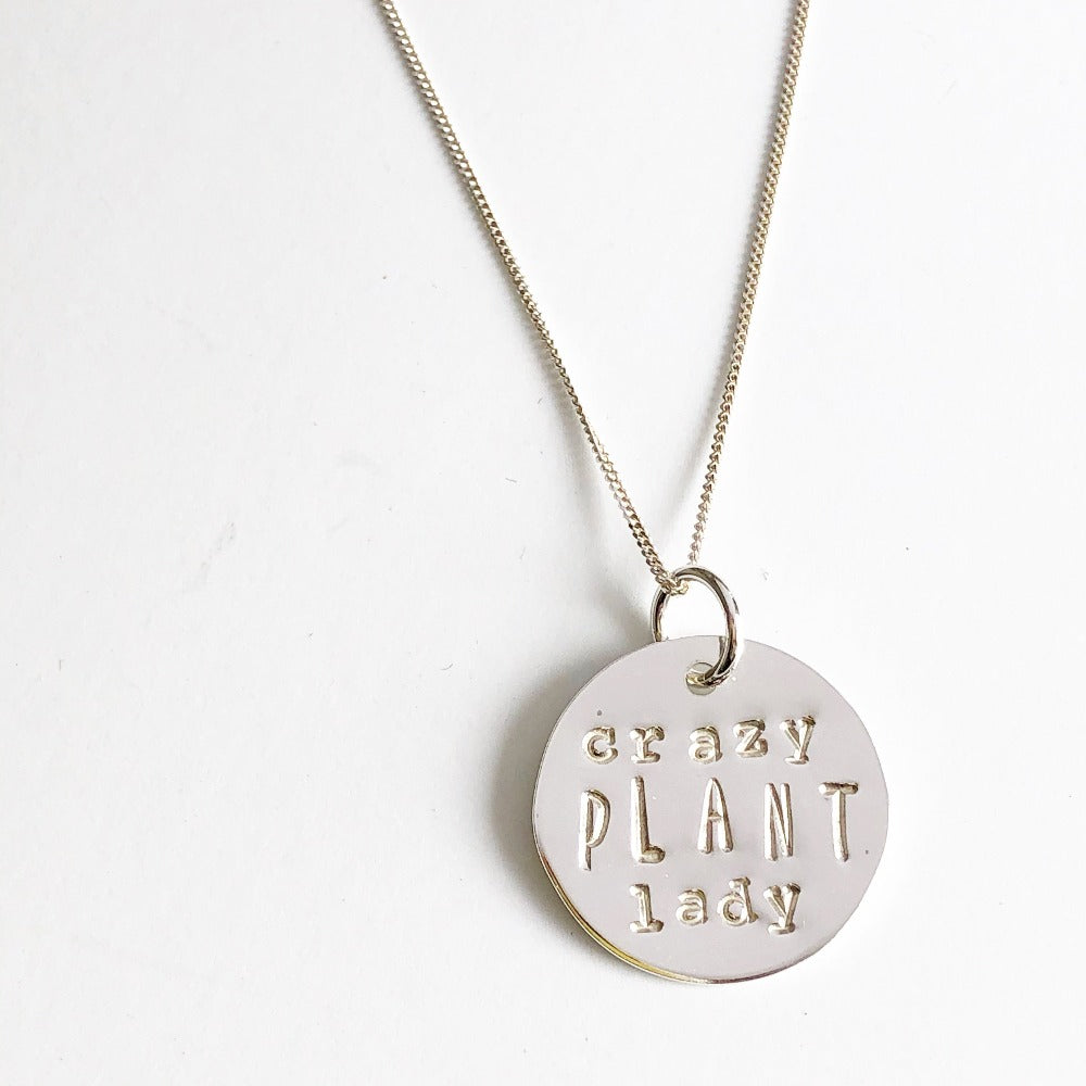 Crazy Plant Lady  Necklace by Marni LuHu