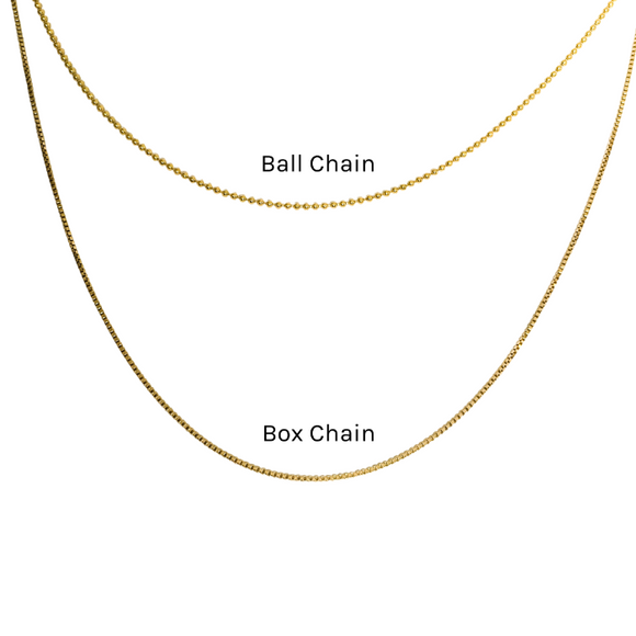 Thin gold filled chains