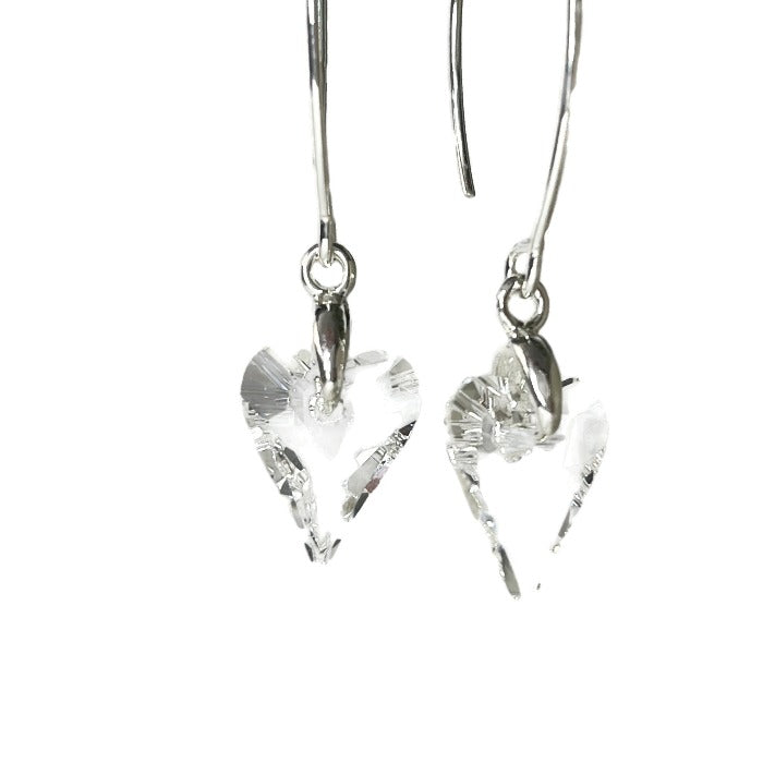 Close up of the Brave Heart Crystal Earrings