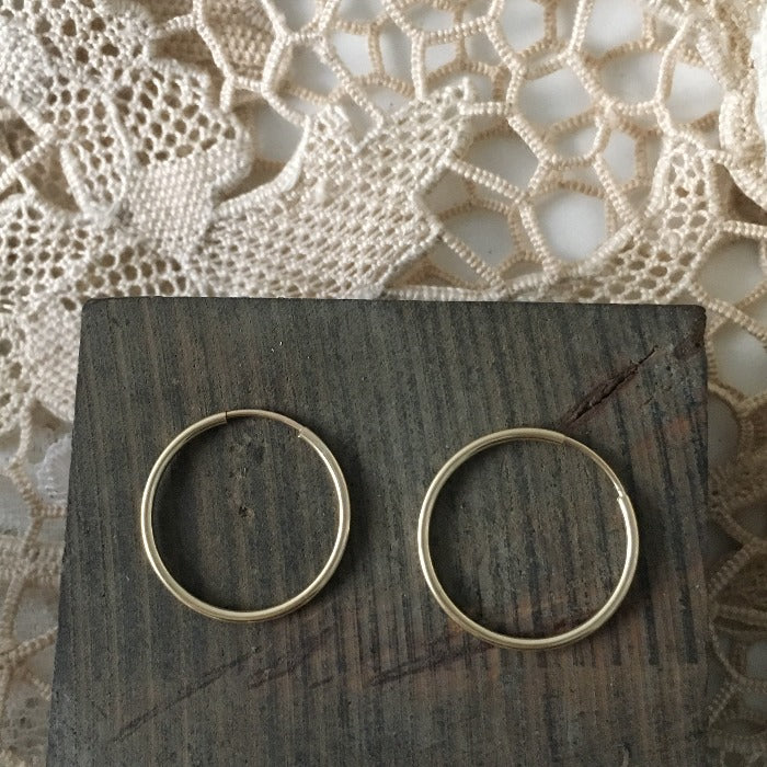 20mm gold filled hoops