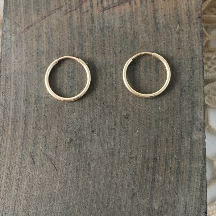14mm gold hoops