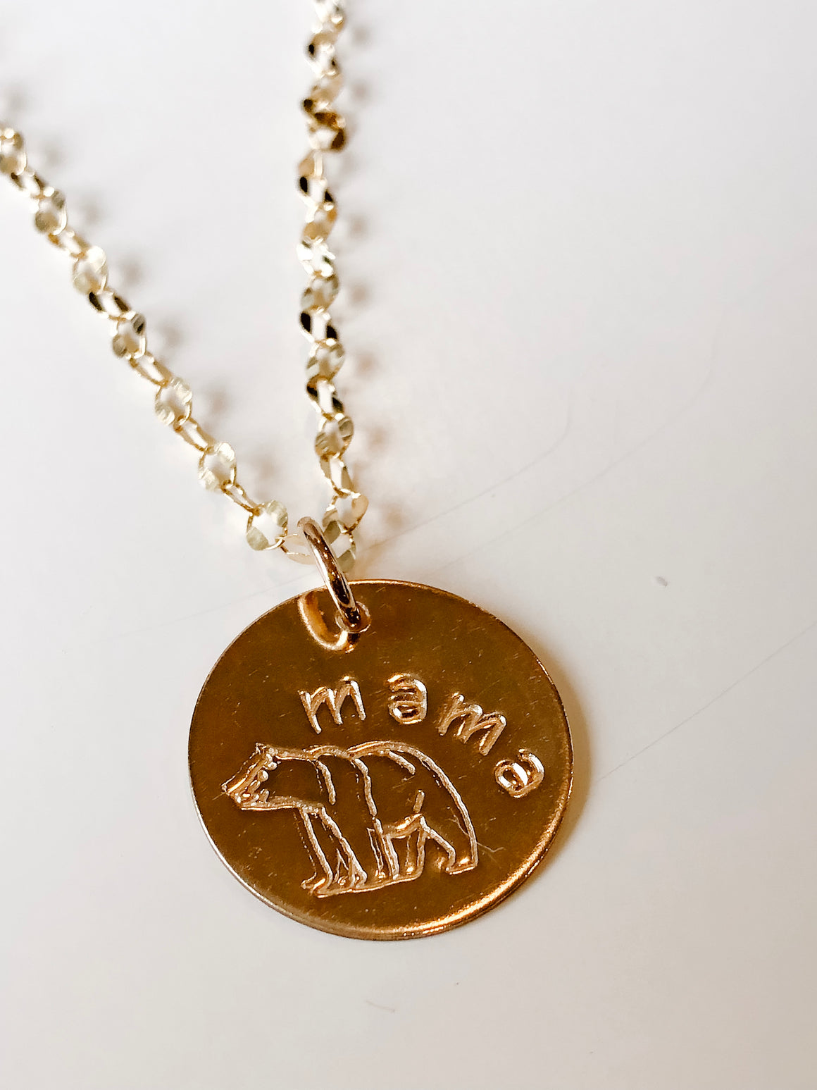 Mama Bear Necklace Gold Marni LuHu Designs