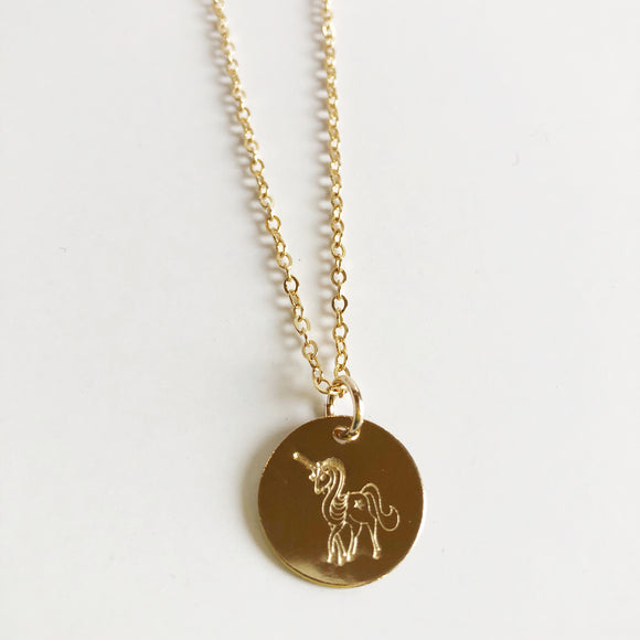 Marni LuHu Gold Unicorn Necklace
