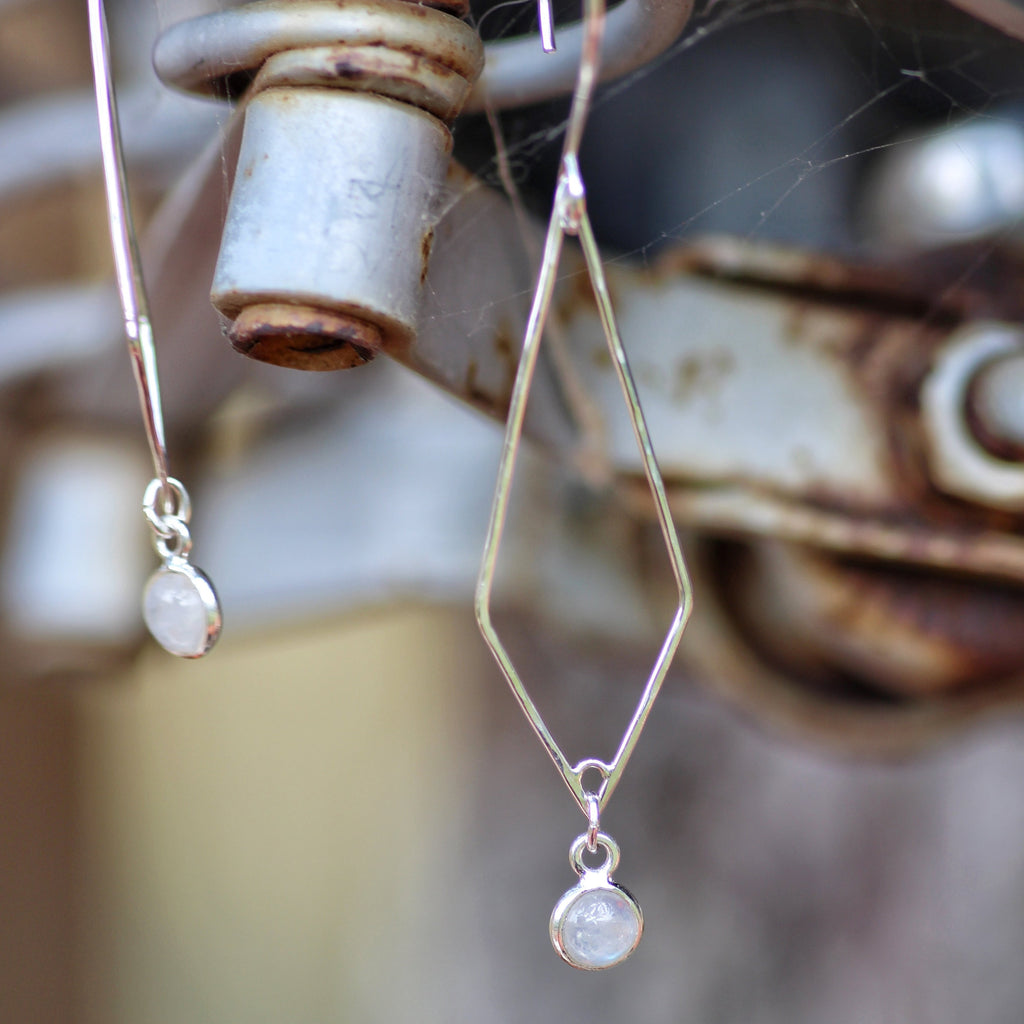 Formo Moonstone Earrings up close