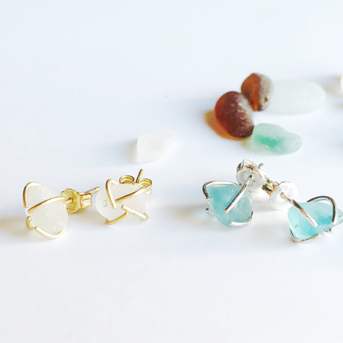 Marni LuHu Sea Glass Studs