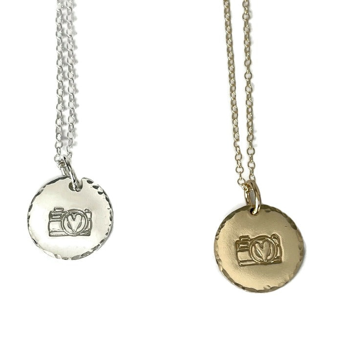 Pretty Pictures Camera Necklace is both silver and gold filled