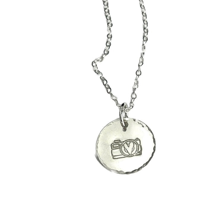 Pretty Pictures Camera Necklace in  silver