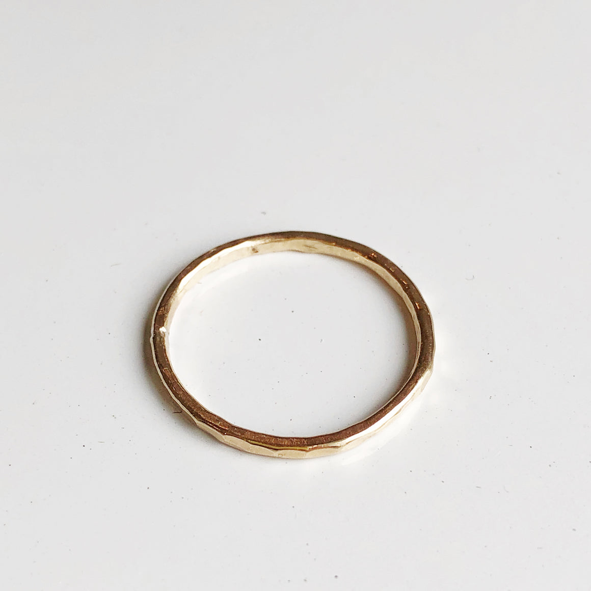 Hammered Stacker Ring -Gold Filled