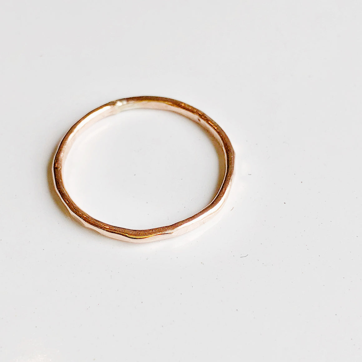 Hammered Stacker Ring -Rose Gold Filled