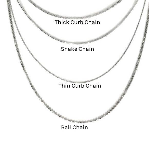 thin Sterling Curb Chain with spring clasp
