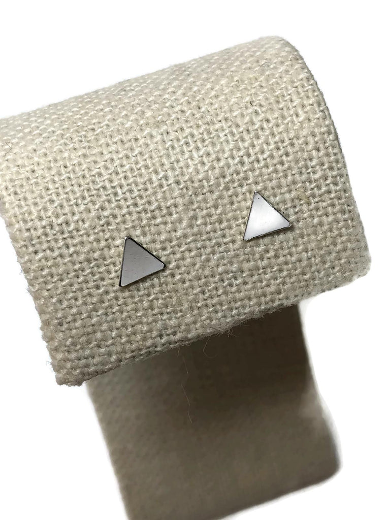 Hey Stud Triangle Studs_Sterling