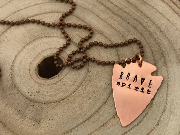 Hello Lovely Brave Spirit Necklace