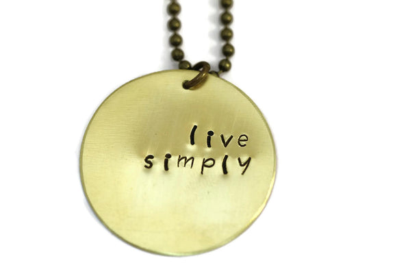 HL Large Gold Disk Necklace - Live Simply