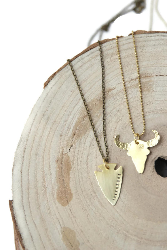 Hello Lovely By Marni LuHu  Bohemian Longhorn Necklace