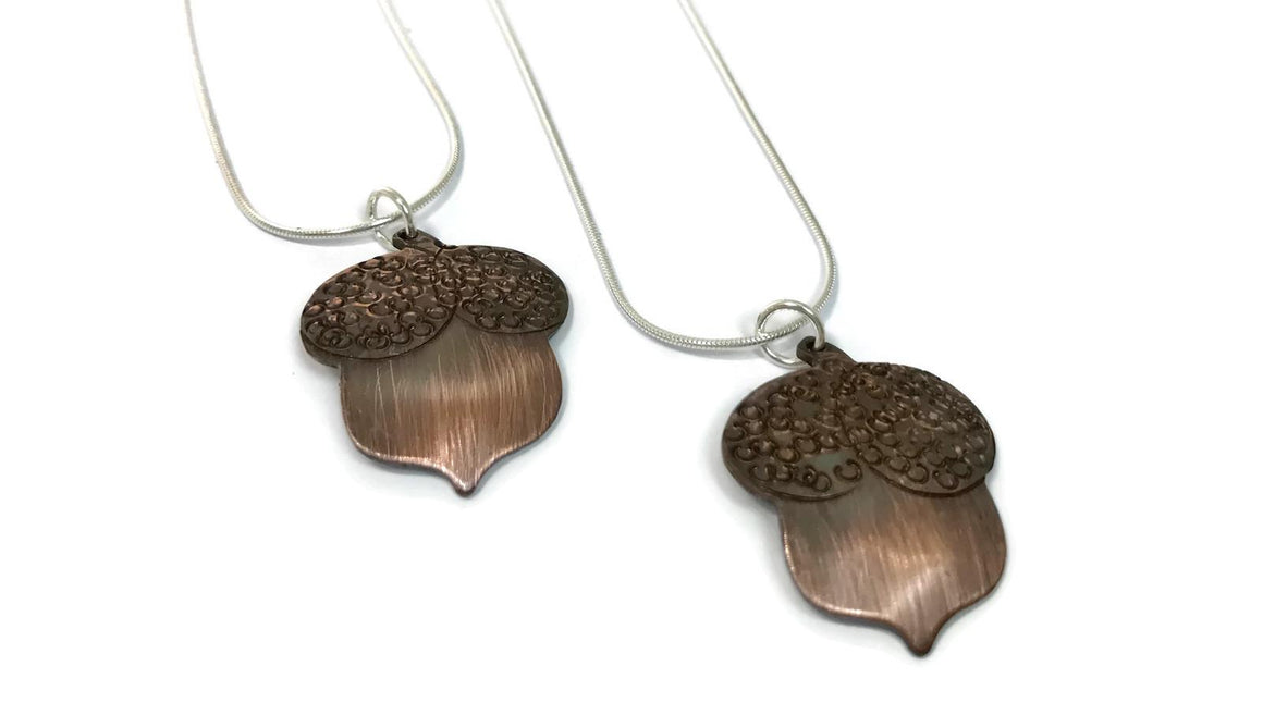 Marni LuHu Handmade Jewelry Copper Acorn Necklace