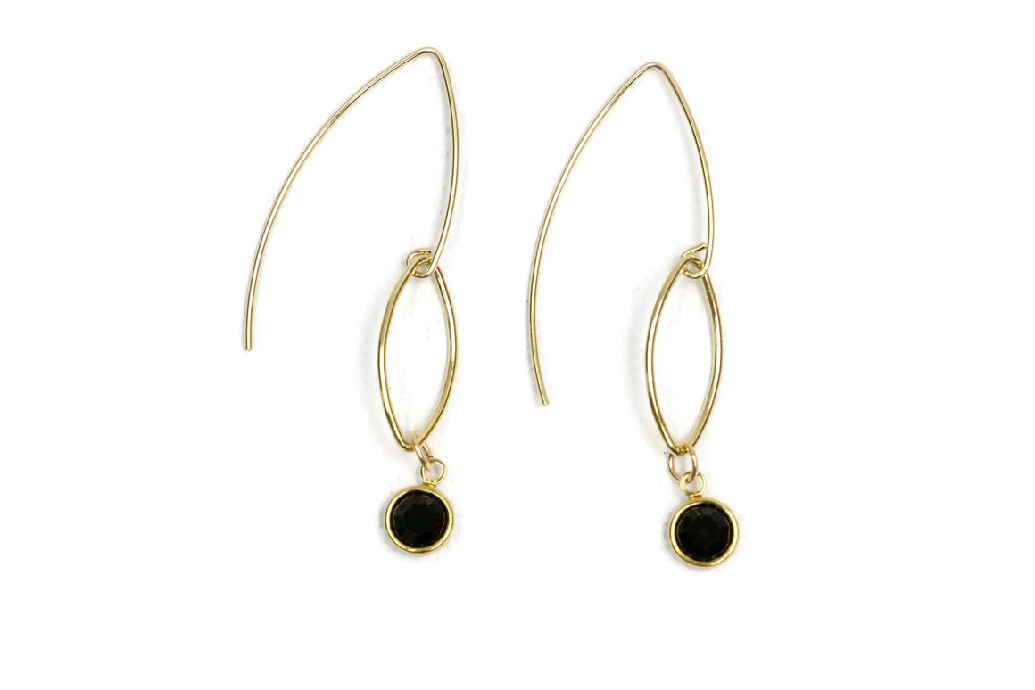 Crystal Maze Earrings Black