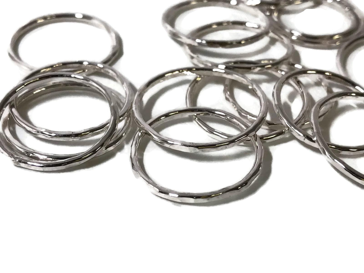 Hammered Stacker Ring -Sterling