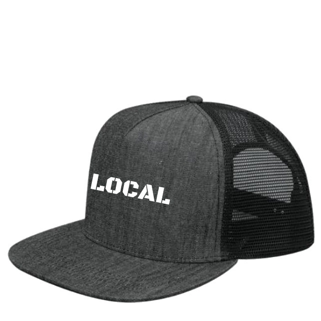 6b50af10fa4 Black Denim Trucker Hat – Twill