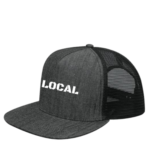 Black Denim Trucker Hat