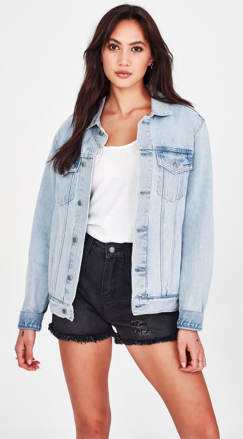 ERINA | Oversized Jacket Pale Blue