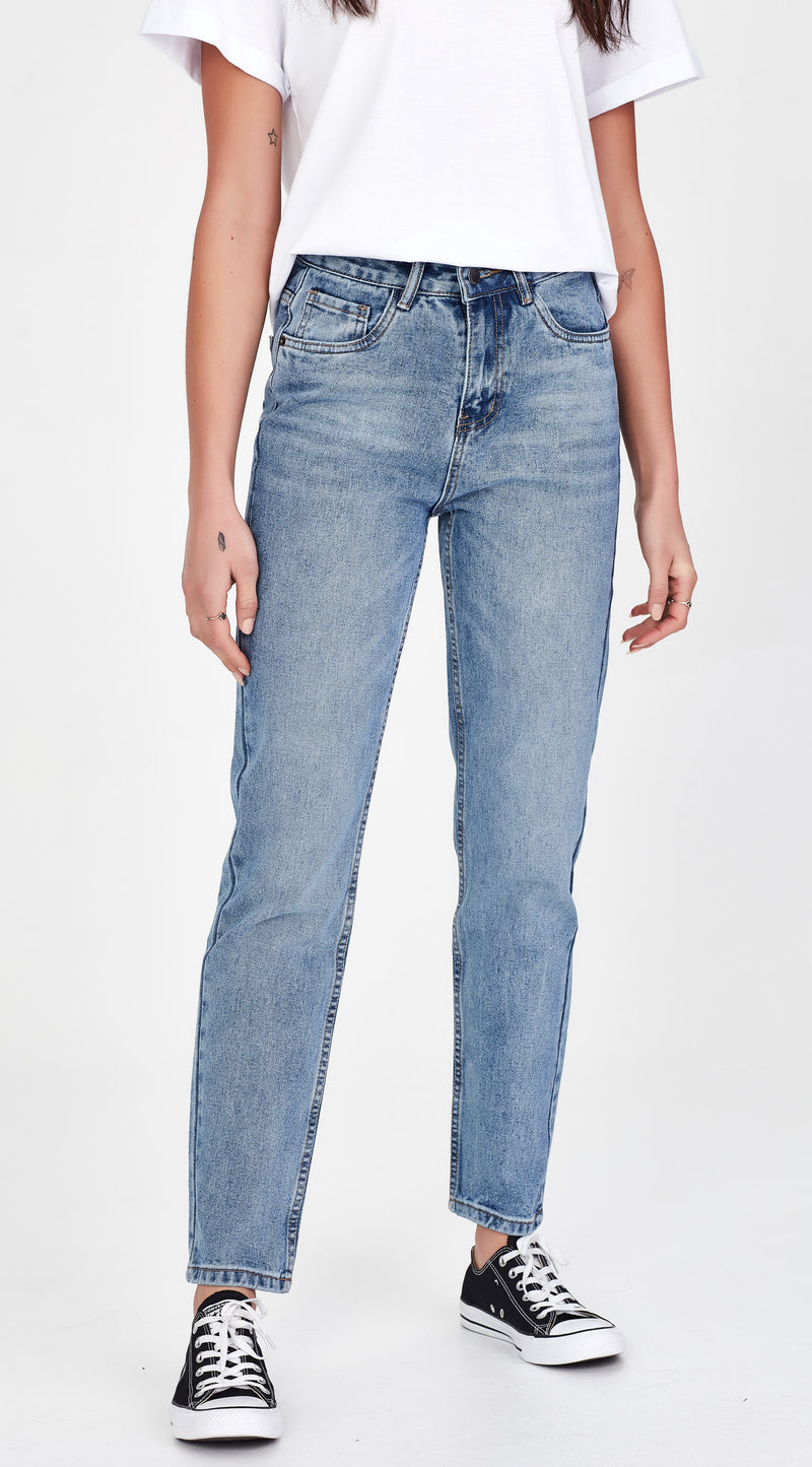 FREIDA | Mom Jean Mid Blue
