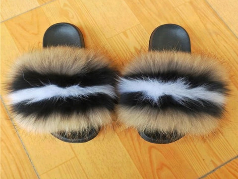 Reward fox fur slides