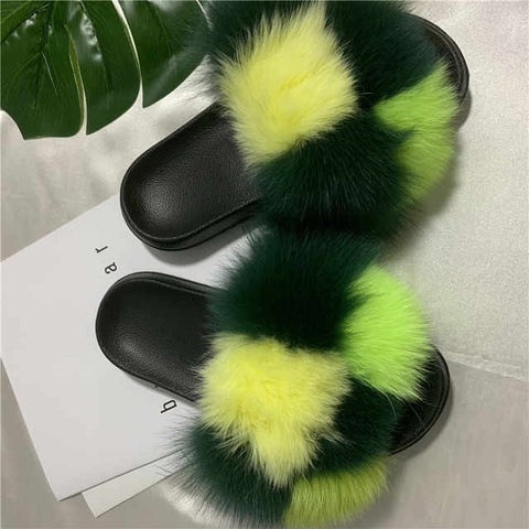 Chek fox fur slides