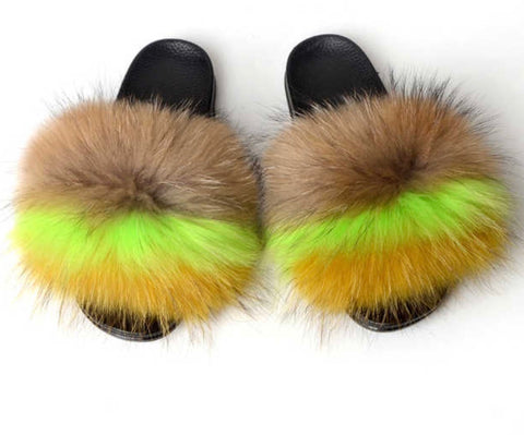 Paige Fox fur slides
