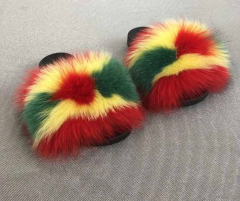 Radio fox fur slides