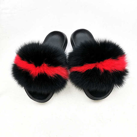 Bulls fox fur slides