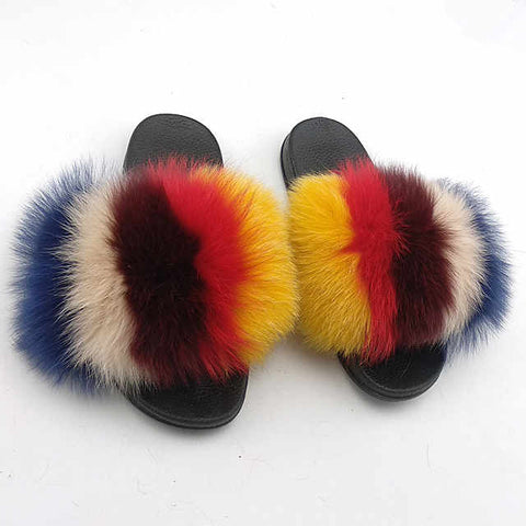 Truth hurt fox fur slides