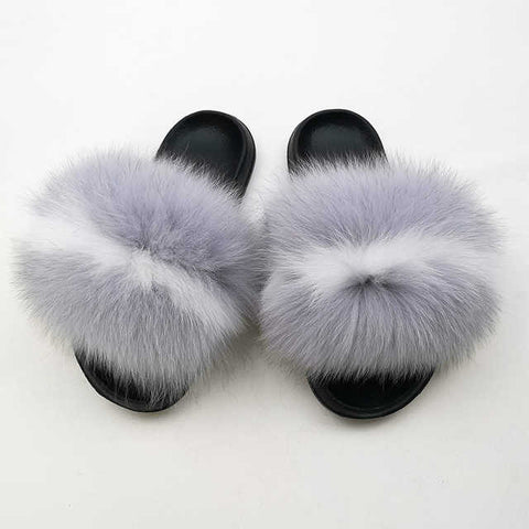 Analoza fox fur slides