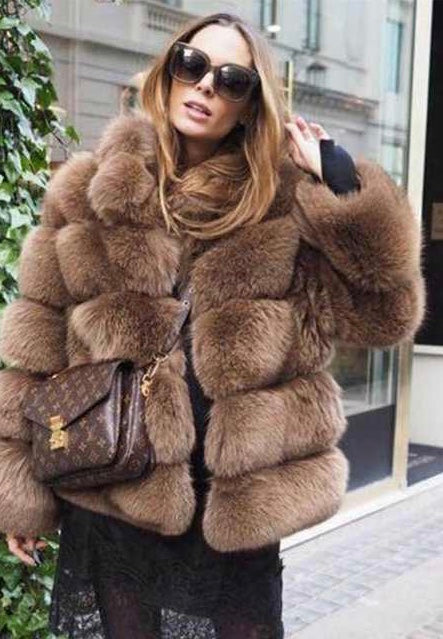 Kimmy Fox fur bubble coat