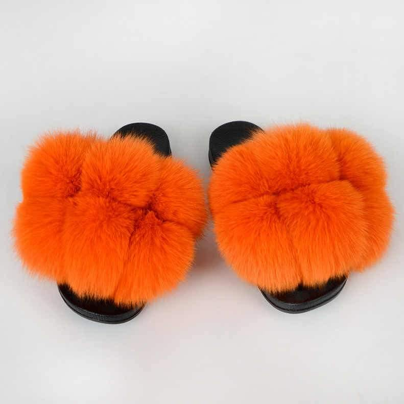 Big Buddha Pom faux slides